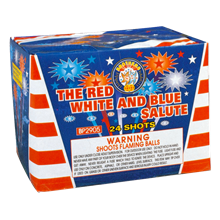 THE RED,WHITE & BLUE SALUTE 25s-case of 12 BP2905case
