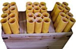 24 Shot Wooden Rack w/ Fiberglass Mortars 24RACK